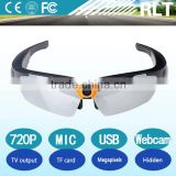 HD 5mp 720P TV video output support TF card microphone USB interface sunglassess sport hidden camera