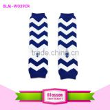 2015 wholesale kids blue chevron leg warmers boutique cotton ruffle baby leg warmers