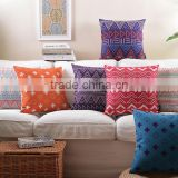 colourful geometric design cushion cover wholesale chevron pattern decorative pillow case
