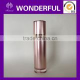 Crystal plastic pump cosmetic packaging tube for cream