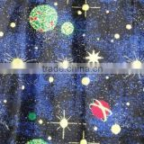 Blue green moon and white star fluorescent wilton carpet only Better Carpet Wilton Carpet factory can make