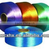 Dope dyed polyester FDY filament yarn bright trilobal flame retardant for ropes