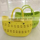 2015 handbag Hollow out design women EVA hand shopping bag