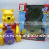 2012 New Design Bear Electric Blowing Bubble Toy Machine new child toy