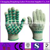 Anti-Vibration 7Gauge T/C Shell latex foam dots coated Safety working gloves machine