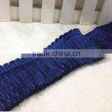 High quality polyester brush fringe with trimming for sofa