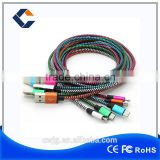 Oem 1m Fabric Braided Usb Data Charger Cable For Iphone5 5s 6 6s 6plus Nylon Cord                                                                         Quality Choice