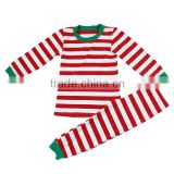 2016 Christmas Halloween boutique kids baby toddler boys girls pajamas wholesale fall winter pajamas suit red striped pajamas