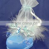 Alibaba wholesale Big baby shoe head shoelaces feather plastic candy box for baby gift
