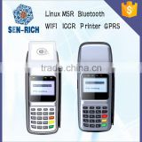 Portable Mobile POS Machine Price on China SEN-RICH with MSR,Printer,ICCR