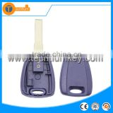plastic transponder car key fob without logo with uncut blade chip groove for fiat croma idea albea sedici