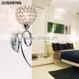 E14 modern indoor 1-lamp crystal lighting wall light 110-240v ac