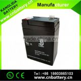 6v4.5ah storage lead acid battery for emergency light, 6volt rechargeable vrla batteries