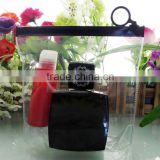 Vinyl Plastic Hook Bag for PVC Cosmetic Bag Makeup Organizer Zipper Bag with O Ring Display Hanger