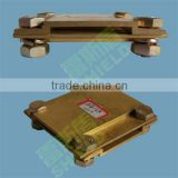 Copper cross ground clamps of flat belt /cross electric wire clamps/ earth clamps of Chinese manufacturer