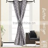 1Pc 100% Polyester Grey Color Yarn Dyed Jacquard Grommet Curtains And Drapes for Window with Matching Clip