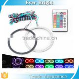 Changeable Colorful RGB LED Car Halo Rings Lights With 24 Key Remote Control LED Angel Car Light led angel eye rings