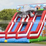 Hola fly elephant inflatable slide/used inflatable water slide for sale/inflatable water slide