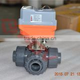regulating type 3 way upvc chemical resistant ball valve