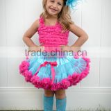 2016 skirt and blouse wedding dress kids frock designs pictures baby 1 year old party dress manufactory