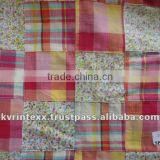 madras plaid patchwork fabric