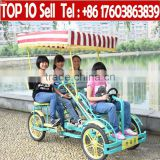 four person quadricycle of china, quadricycle the pedal, used quadricycle surrey sightseeing bikes