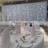 indoor wedding decor / muslim wedding decoration / white background wedding hall decoration