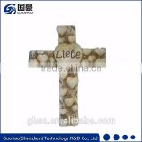 Religious craft lebe cross resin heart catholic crucifix wholesale