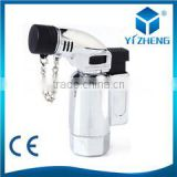 High Quality Windproof Cigar Lighter Hot Jet Torch Flame Butane Lighter Display Gift Box YZ-692