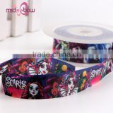 Wholesale single faced printed grosgrain cartoon character ribbon for gift packaging