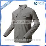 Wholesale Long Sleeve Men Vented Shirt Fishing Shirt Fishing Clothing Fast Dry Sport Fishing Shirts