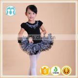 hot sale good quality tutu dress for 5-8years/ girls embroidered black ballet dress for girls dancing