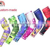Best selling custom sublimation cool soccer/basketball sport arm protection warmers arm sleeve