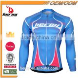 BEROY mens specialized bikes long sleeve jersey reflective sun protection,good quality bycicle tops