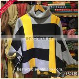 wholesale new acrylic knit turtleneck poncho with sleeve fashion cashmere cloak custom made ugly christmas sweater