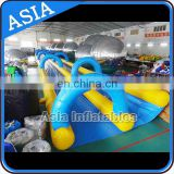 Commercial use inflatable slip and slide with sponge underneath / giant inflatable water slip and slide for adult and kids