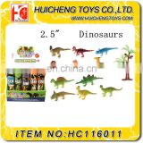 2.5 inch 3D dinosaur wild world animal mini dinosaur toys set for kids