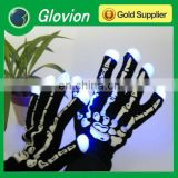 Led finger light gloves glowing led gloves Flashing Color Gloves skeleton gloves