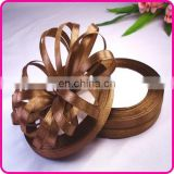 INteresting! High Glossy Satin Material Roll Selling Colorful Custom Chocolate Brown Ribbon