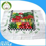 Custom Printed Standard Size Plain White Cotton Tea Towel Wholesale Christmas Wholesale Kitchen Towel