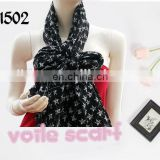 2017 Nice Polyester Voile Scarf fashion Ladies star Printed fringe shawl