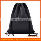 cheap advertising printed satin drawstring shoe bag