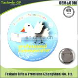Round tin smiling badge with safety pin on back China wholesale button badge material in tin