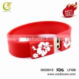 High Quality Silicone Bracelet Memory Stick Wristband Usb Flash Drive Rubber Thumb Drive With Customed Logo Design