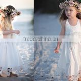 White Flower Girl Dress Holiday Bridesmaid baby dress Birthday Wedding Party girl dress White Flower Girl Tulle Dress