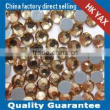 1202L 5mm SS20 1440pcs Light Colorado Topaz High quality wholesale flat back glass rhinestones,rhinestones glass flat back