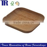Wood Square Tray,Food Tray Plate,Natural Wood Tray Plate