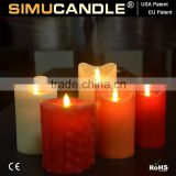 LED flameless candle with moving flame with remote with USA and EU patent for Party Decorative
