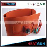 OIL METAL DRUM SILICON RUBBER HEATER TO HEAT DRUM FLEXIBLE SILICONE RUBBER RIBBON HEATER