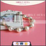 Fashion design chunky necklace baroque pearl necklace